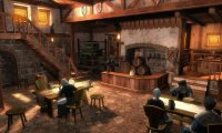 A small and quite empty medieval Tavern