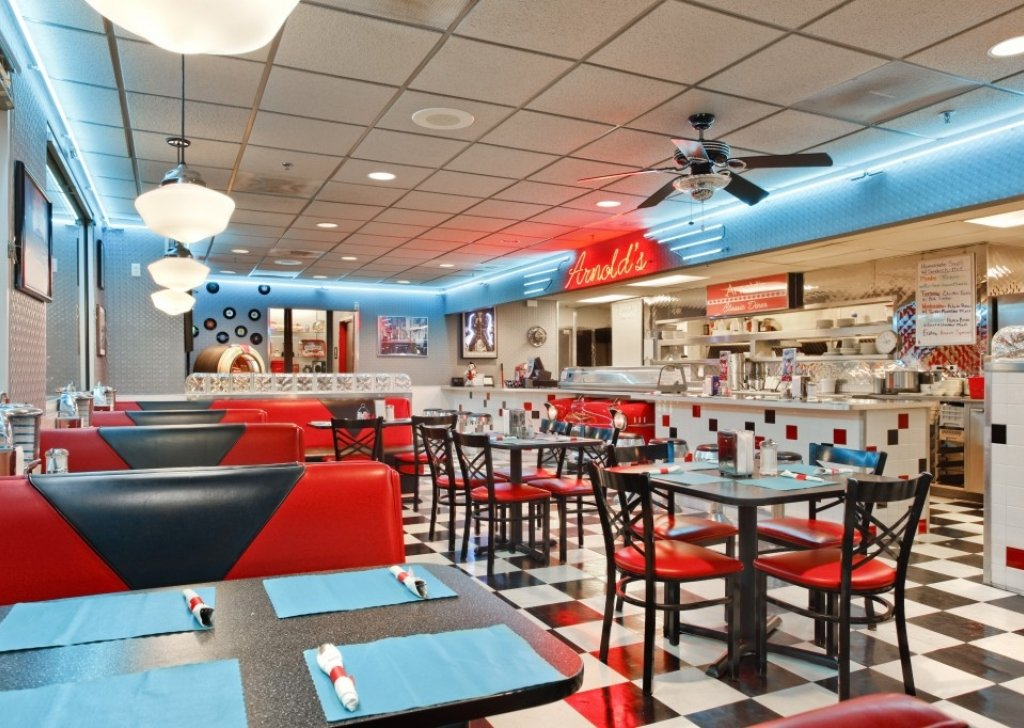 An old fashioned diner restaurant audio atmosphere